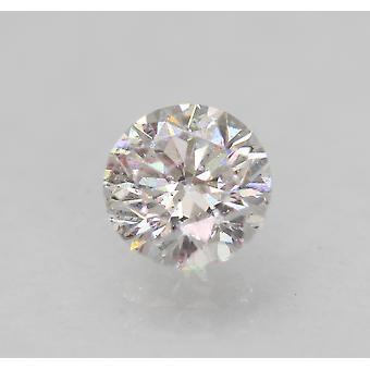 Certified 0.64 Carat D VS2 Round Brilliant Enhanced Natural Loose Diamond 5.36mm
