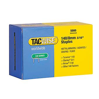 Tacwise 140 Galvanised Staples 8mm (Pack 5000) 0341