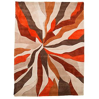 Infinite Splinter Rug - Rectangulaire - Orange/brun