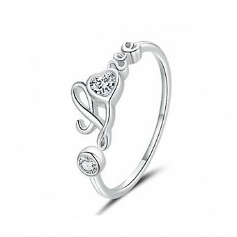 Sterling Silber Ring Wahre Liebe - 6869