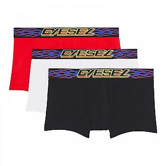 DIESEL 3-Pack Boxer Trunk UMBX-Damien, Black / White / Red, X-Large