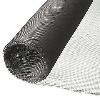 Nature mosquito net 1 x 2m aluminium grey