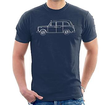 London Taxi Company TX4 Outline Mænd's T-shirt