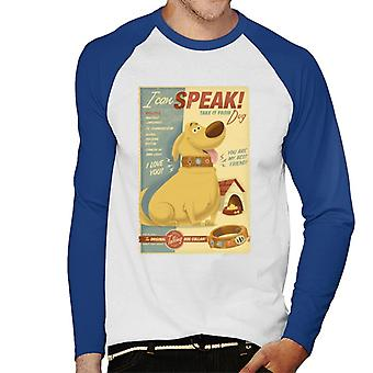 Pixar Up Dug I Can Speak Men's Baseball Pitkähihainen T-paita