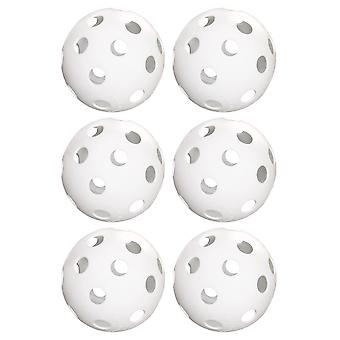 "6-Pack de 12"" Practica Softballs, Blanco"