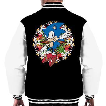 Sonic Der Igel Knöchel und Schwänze Montage Men's Varsity Jacke