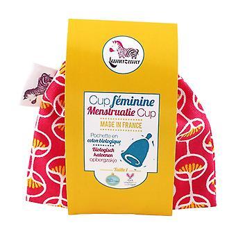 Feminina Menstrual Cup - Size 1 - Pink Bag 1 unit
