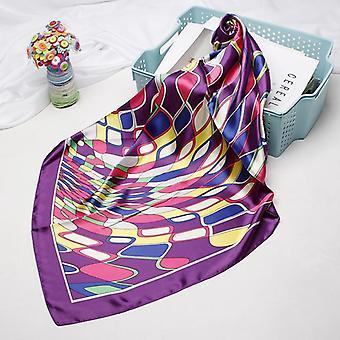 Fashion Hijab Scarf Print Silk Satin Hair Kerchief Square Neckerchief Headband