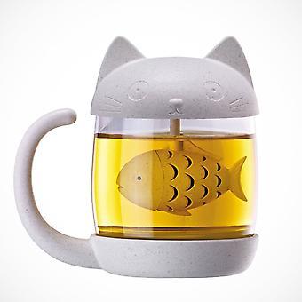 Tasse de chat d'infuser de thé de poisson