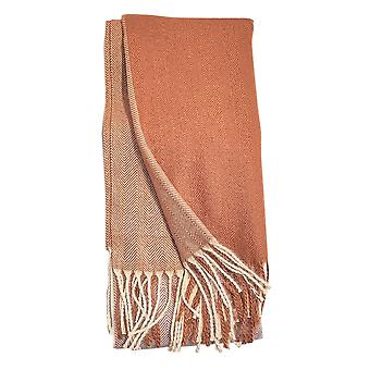 Fine Blocks Beige Ladies Scarf by Butterfly Fashion London