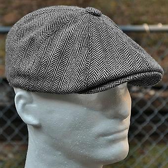 Uusi Herringbone-tyyliset baretit retrovillainen toppi huopahattu