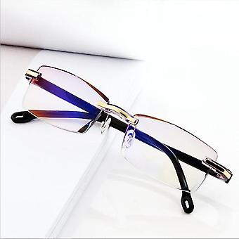 Ultralight Rimless & Transparent, Frameless Computer Glasses Reader 1.5 2.