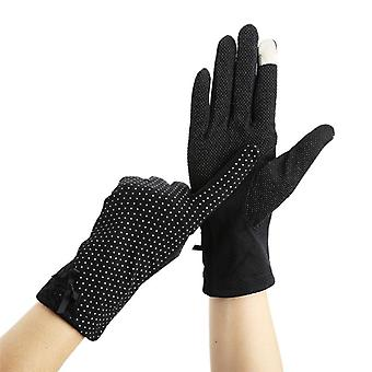 Lace Sunscreen Gloves And Summer Spring Lady Stretch Touch Screen Anti Uv Slip