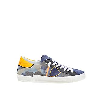 Philippe Model Prlucf11b Men's Camouflage Fabric Sneakers