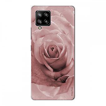 Scafo per Samsung Galaxy A42 5g Silicone Morbido 1 mm, rosa in colore pastello