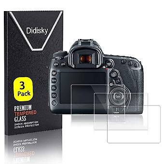 Didisky tempered glass screen protector for canon 5d4, 5d mk iv, [ 3 pack ] anti scratch, 9h hardnes