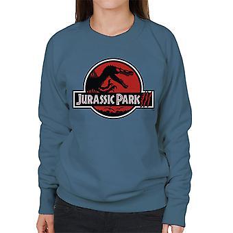 Jurassic Park White Outline Claw Marks Logo Felpa donna