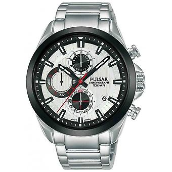 Press activate watch for Analog Quartz Men with stainless steel bracelet PM3183X1