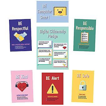 Conjunto de tableros de boletín de ciudadanía digital