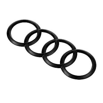 Gloss Black Front Grill Bonnet Badge Emblem Rings Badge Emblem A3 A4 A5 A6 S3 S4 S5
