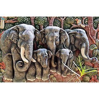 Fondo de pantalla Mural Moldeo de elefantes (171079