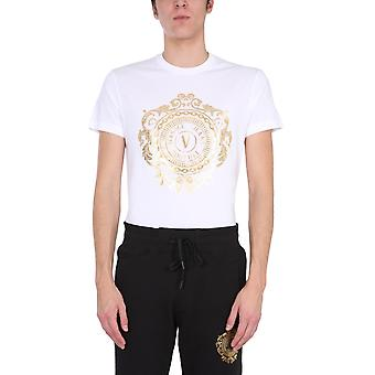 Versace Jeans Couture B3gwa74f30454k41 Heren's White Cotton T-shirt
