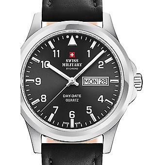 Reloj masculino militar suizo por Chrono SM34071.04, cuarzo, 40 mm, 5ATM