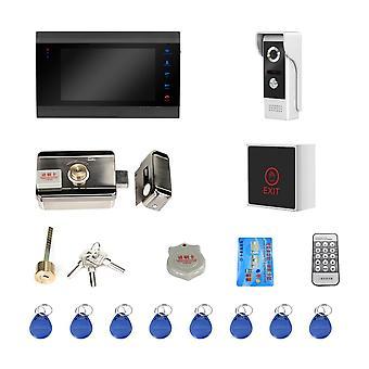Interphone vidéo câblé avec serrure, système de verrouillage de porte d'accueil, détection de mouvement de support