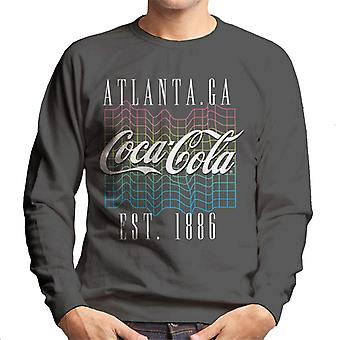 Coca Cola Colourful Grid Logo Men's Sweatshirt