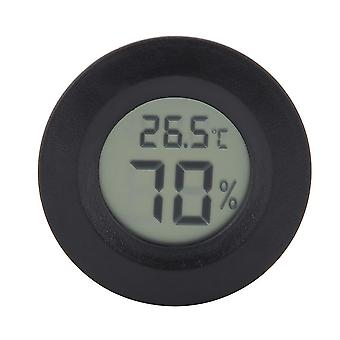 Mini Lcd Digital Thermometer, Hygrometer, Round Shape, Reptile Aquarium,