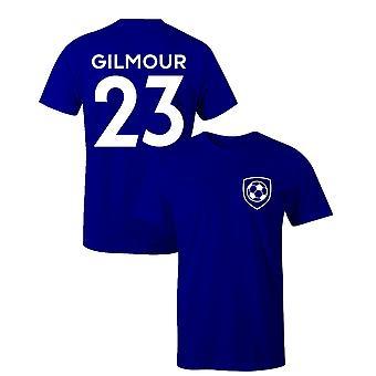 Billy Gilmour 23 Club Stil Spieler Fußball T-Shirt