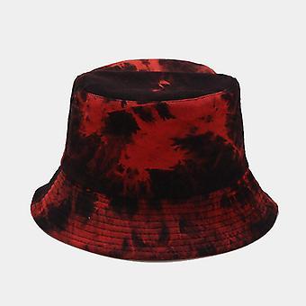 Double-sided Wearing Cap Visor Rainbow Color Bucket Hat Men Women Cotton Flat