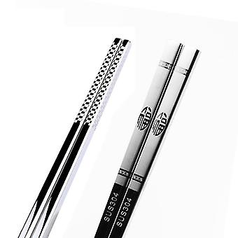 Stainless Steel Anti Skid Dragon Chopsticks
