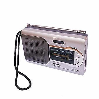 Indin BC-R22 Slim AM/FM Mini Portable World Receiver Stereo Speakers Music Player