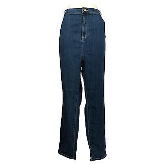 LOGO By Lori Goldstein Women's Jeans Plus Skinny High Rise Blue A351330