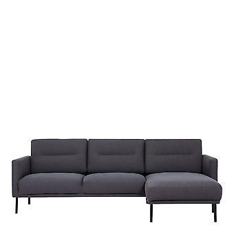 Vickie Chaiselongue Sofa (Rh) - Antracit Black Legs
