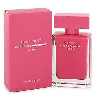 Narciso Rodriguez Fleur musc por Narciso Rodriguez Eau de Parfum Spray 1,6 oz (mulheres) V728-544580