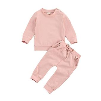 0-24m Toddler Kids Baby Clothes Spring Autumn Newborn Candy Color Sweatshirts