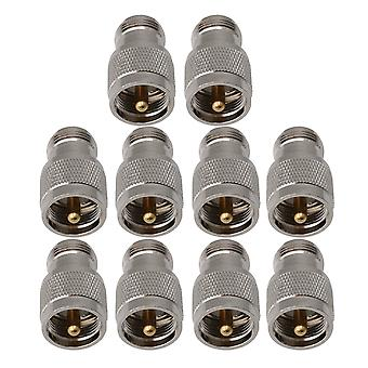 10st PL259 Kabel RF Coax Connector UHF Hankontakt till N Typ Kvinnligt Uttag