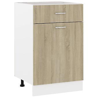 Drawer Bottom Cabinet Sonoma Oak 50x46x81.5 Cm Chipboard