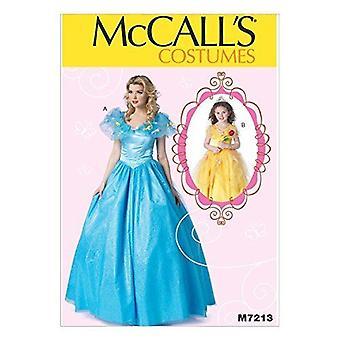 McCalls Schnittmuster 7213 Mädchen Kinder Kleid Kostüme Größe 3-8