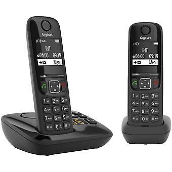 Wokex AS690A Duo 2 Schnurlose Telefone mit Anrufbeantworter , Display mit Jumbomodus , brillante