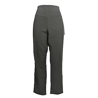 Women With Control Women's Pants Petite Tummy Control Slim Gray A284090