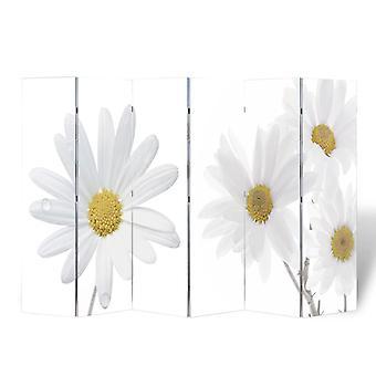 vidaXL комнатная перегородка складная 240 x 170 см цветок