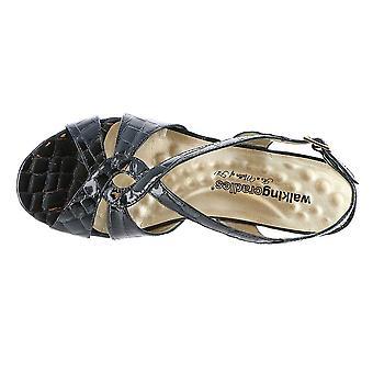Walking Cradles Womens Dixie Leather Open Toe Casual Platform Sandals
