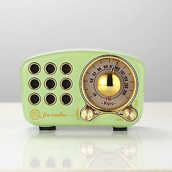无线电蓝牙扬声器,复古无线电-Fm收音机与老式风格,