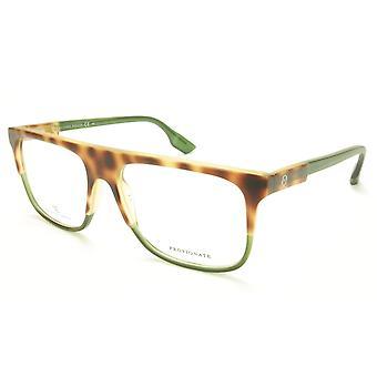 Alexander McQueen Eyeglasses Frame MCQ 0051 G1Q Havana Green Acetate Italy 55-16