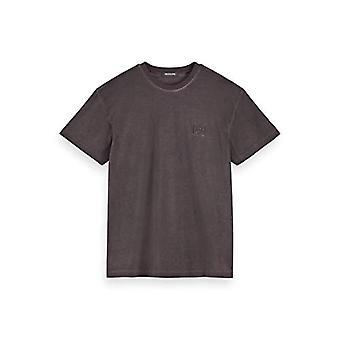 Scotch &soda oil-washed Crewneck Camiseta camiseta, Viola (Berenjena 3499), Hombres Medianos