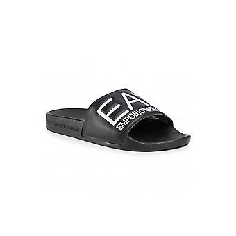 Emporio Armani EA7 Graphic Ea7 Logo Black Sliders