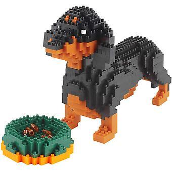 FengChun Mini Hund Bausteine Haustier Gebäude Spielzeug Ziegel, 898 Stück KLJM-02 (Dackel)